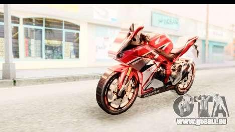 Honda CBR250RR pour GTA San Andreas sur la vue arrière gauche