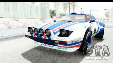 GTA 5 Lampadati Tropos Rallye No Headlights IVF pour GTA San Andreas vue de côté
