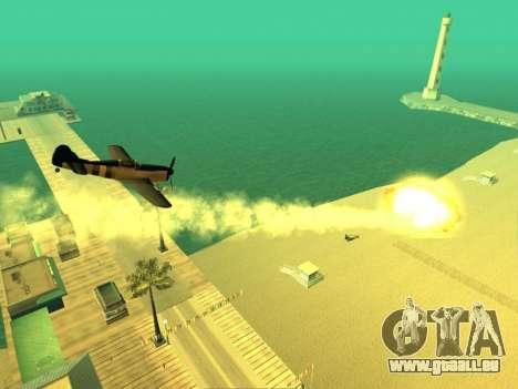 L'ajout d'armes à la technique de l'air pour GTA San Andreas quatrième écran