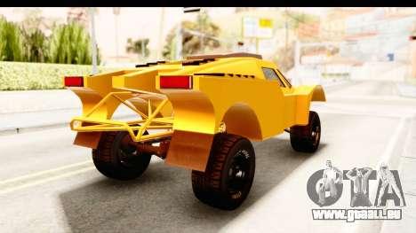 GTA 5 Desert Raid IVF PJ pour GTA San Andreas sur la vue arrière gauche