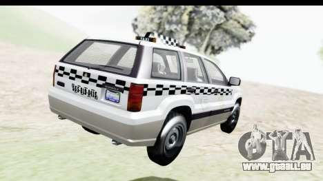 GTA 5 Canis Seminole Taxi Milspec pour GTA San Andreas laissé vue