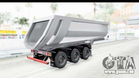 Trailer Volvo Dumper pour GTA San Andreas laissé vue
