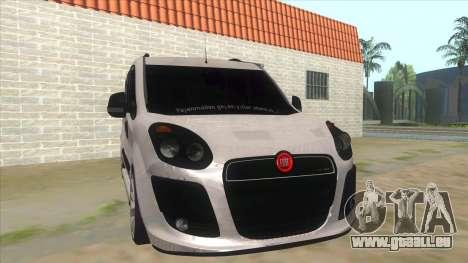 Fiat Doblo 2015 Series für GTA San Andreas Rückansicht