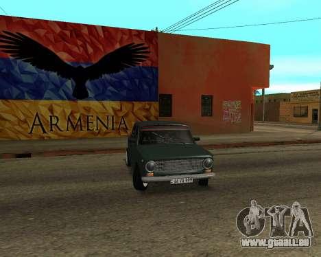 VAZ 2101 Arménie pour GTA San Andreas vue de côté
