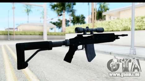 GTA 5 Vom Feuer Marksman Rifle für GTA San Andreas zweiten Screenshot