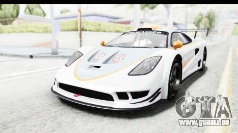 GTA 5 Progen Tyrus pour GTA San Andreas vue de dessus