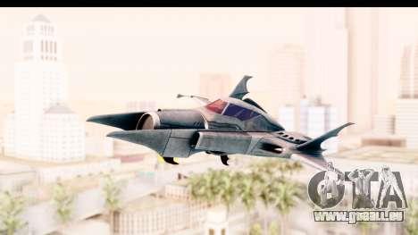 Batman Arkham Asylum - Batwing für GTA San Andreas zurück linke Ansicht