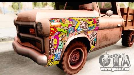Walton Sticker Bomb für GTA San Andreas Rückansicht