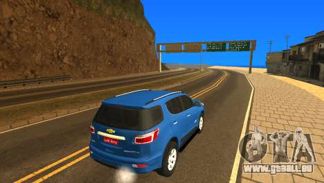 Chevrolet TrailBlazer 2015 LTZ pour GTA San Andreas vue arrière