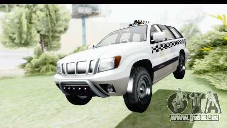 GTA 5 Canis Seminole Taxi Milspec pour GTA San Andreas vue de droite