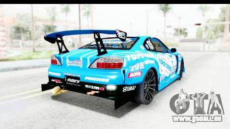 Nissan Silvia S15 D1GP Blue Toyo Tires pour GTA San Andreas sur la vue arrière gauche