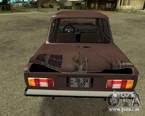 ZAZ 968M Arménie pour GTA San Andreas vue de dessous
