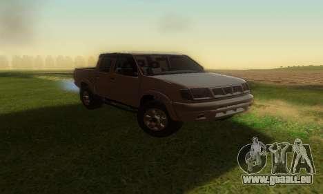Nissan Frontier für GTA San Andreas rechten Ansicht
