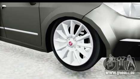 Fiat Linea 2015 v2 Wheels für GTA San Andreas Rückansicht