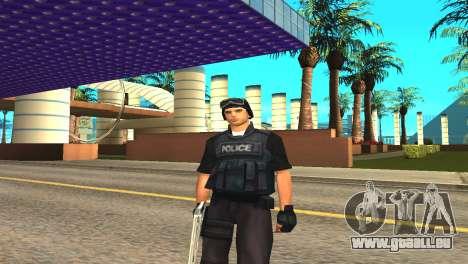 Original SWAT de la peau sans masque pour GTA San Andreas