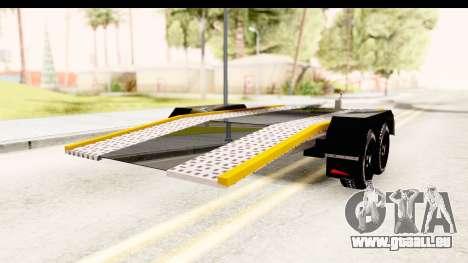 Dacia Duster Pickup Trailer für GTA San Andreas linke Ansicht