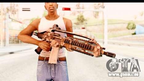 SCAR-LK Hex Camo Tan pour GTA San Andreas troisième écran