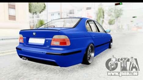 BMW 525i E39 M Tech pour GTA San Andreas laissé vue