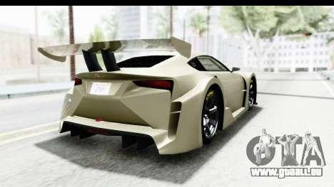 GTA 5 Emperor ETR1 IVF pour GTA San Andreas laissé vue