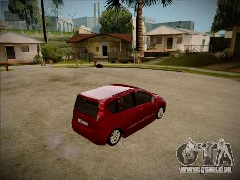 Nissan Note 2008 pour GTA San Andreas sur la vue arrière gauche