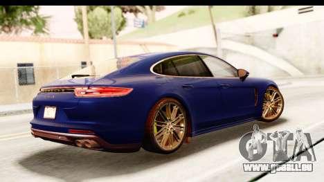 Porsche Panamera 4S 2017 v4 pour GTA San Andreas laissé vue