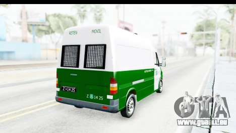 Mercedes-Benz Sprinter Carabineros de Chile pour GTA San Andreas laissé vue