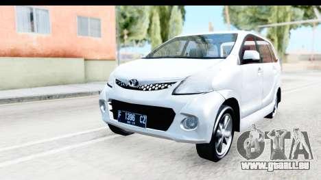 Toyota Avanza Veloz 2012 v1.1 für GTA San Andreas