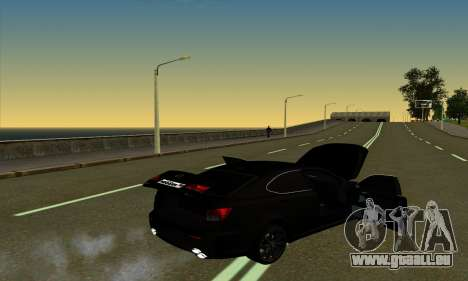 Lexus IS-F für GTA San Andreas Rückansicht