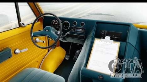 GMC Vandura 1985 HQLM für GTA San Andreas Innenansicht