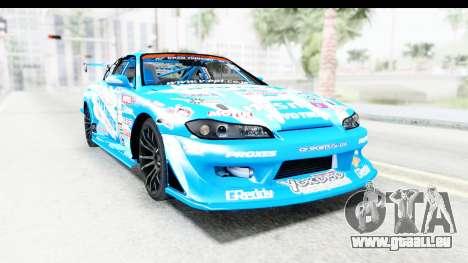Nissan Silvia S15 D1GP Blue Toyo Tires für GTA San Andreas rechten Ansicht