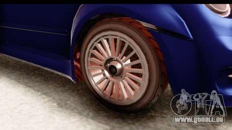 GTA 5 Grotti Brioso pour GTA San Andreas vue arrière