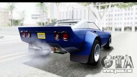 GTA 5 Lampadati Tropos Rallye No Headlights IVF pour GTA San Andreas laissé vue