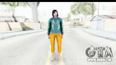 Cunning Stunts DLC Female Skin für GTA San Andreas zweiten Screenshot