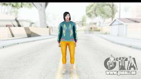Cunning Stunts DLC Female Skin für GTA San Andreas zweiten Screenshot