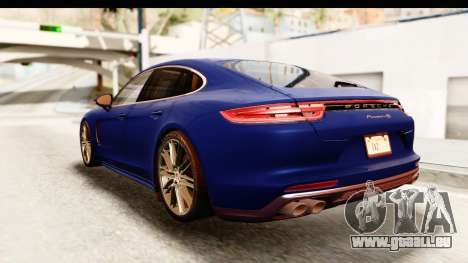 Porsche Panamera 4S 2017 v4 pour GTA San Andreas sur la vue arrière gauche