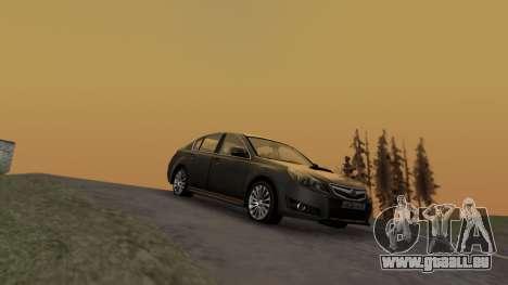 Subaru Legacy 2010 für GTA San Andreas zurück linke Ansicht