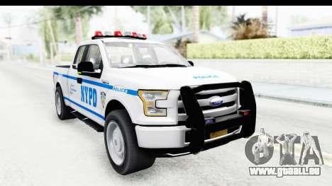 Ford F-150 Police New York pour GTA San Andreas vue de droite