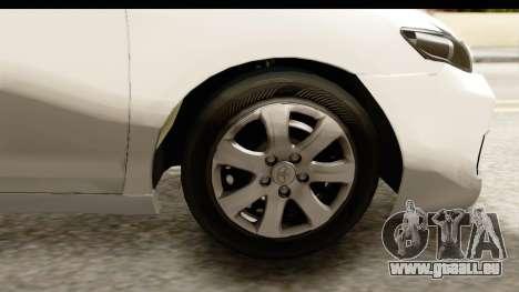 Toyota Camry GL 2011 für GTA San Andreas Rückansicht