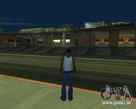 Nouveau garage de l'Arménie pour GTA San Andreas deuxième écran