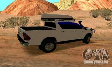Toyota Hilux pour GTA San Andreas sur la vue arrière gauche