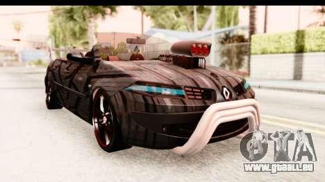 Renault Megane Spyder Full Tuning v2 pour GTA San Andreas
