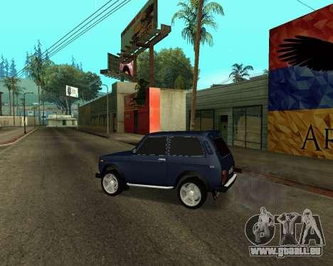 Niva 2121 Armenian pour GTA San Andreas vue de côté