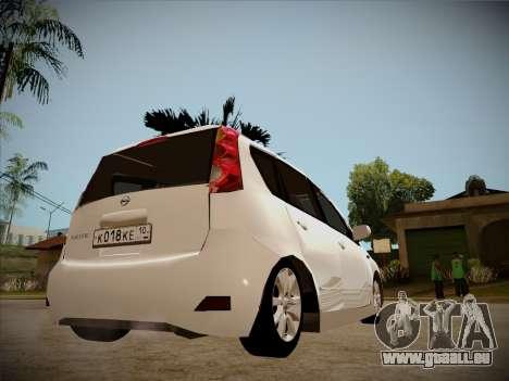 Nissan Note 2008 pour GTA San Andreas vue de dessus