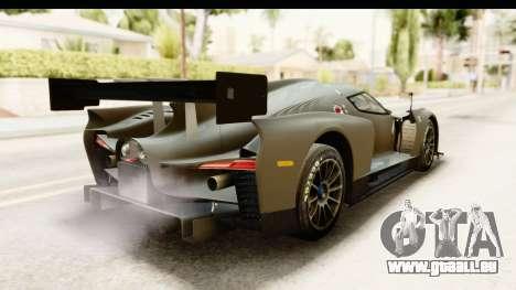 Scuderia Glickenhaus SCG 003C pour GTA San Andreas sur la vue arrière gauche