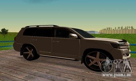 Toyota Land Cruiser 200 für GTA San Andreas Rückansicht
