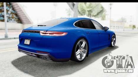 Porsche Panamera 4S 2017 v1 pour GTA San Andreas laissé vue