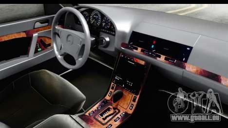 Mercedes-Benz W140 S600 AMG für GTA San Andreas Innenansicht