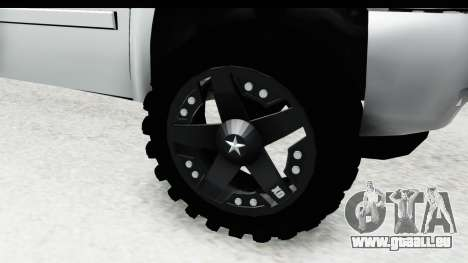 Chevrolet Silverado Duramax 2012 pour GTA San Andreas vue arrière