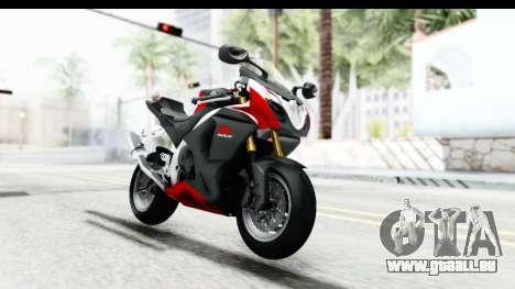 Suzuki GSX-R1000 2015 für GTA San Andreas zurück linke Ansicht