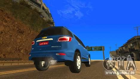 Chevrolet TrailBlazer 2015 LTZ pour GTA San Andreas vue de droite